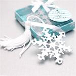 Snowflake Bookmark Favors