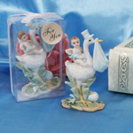 Special Delivery! Stork Figurine with Blue Accents
