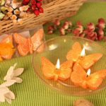 Spring Cheer Orange Butterfly Candle Set