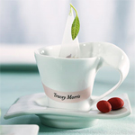 Swish Handle Cup and Saucer Sets - 4 sets