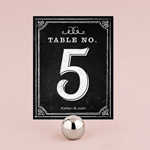 Table Numbers With Chalkboard Print Design - Pack of 12