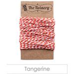 Tangerine Orange Striped Baker's Twine (15 yards)