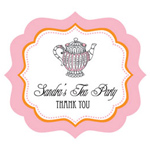 Tea Party Frame Personalized Labels