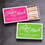 """The Perfect Match"" White Matchboxes - 50 pcs"