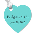 Tiffany Blue Heart Shaped Personalized Tags