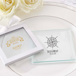 Travel and Adventure Personalized Glass Coaster - Set of 12