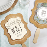 Travel and Adventure Personalized Kraft Fan (Set of 12)