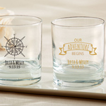 Travel and Adventure Personalized Rocks Glasses