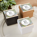 Travel and Adventure Personalized Square Favor Boxes (Set of 24)