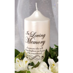 In Loving Memory Candle Decal - 3 x 3.5 inches