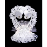 Lace Heart Bells Cake Topper