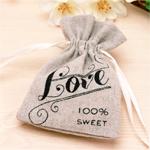Vintage Love Mini Drawstring Favor Bags - 12 pcs