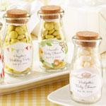 """Vintage"" Personalized Milk Baby Shower Favor Jar - 12 pcs"
