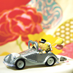 Wedding Get-A-Way Car Cake Topper