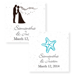 Wedding Themed Personalized Plantable Hang Tags - 20 pcs