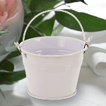 White Pail Favors
