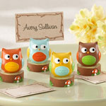"""""""Whooo's the Cutest"""" Baby Owl Place Card - Photo Holder (Set of 4)"""