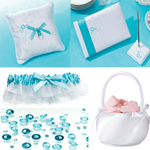 Aqua Satin Wedding Collection