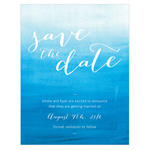 Aqueous Save The Date Card
