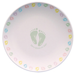 Baby Shower Autograph Plate