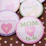 Baby Shower Party Buttons