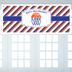 Basketball Themed Personalized Banner