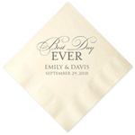 Best Day Ever Personalized Napkins - 25 pcs