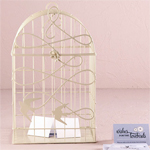 """Birds in Flight"" Birdcage Wedding Card Holder"