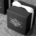 Monogram Colored Square Favor Box