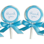 Blue Lollipop Favors - 24 pcs