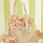 Blush Rose Flower Basket