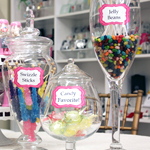 Candy Buffet Cling Labels - 8 pieces