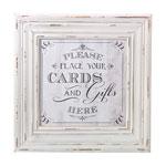 Cards Sign Frame (White)
