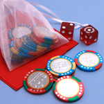 Chocolate Casino Chips Wedding Favors - 1 lb