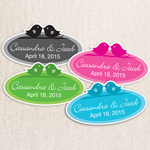 Love Birds Personalized Oval Labels - 24pcs