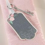 Chalk Style Flower Key Tags - Set of 24
