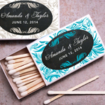 Chalkboard Swirl Personalized Matches - set of 50