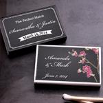 Chalkboard Wedding Personalized Matches - 50 pcs