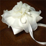 Chiffon Rose Ring Pillow and Flower Girl Basket