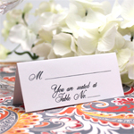 White Classic Place Cards - 50 pcs