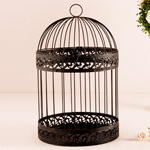 Classic Round Decorative Birdcage Card Holder