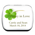 Clover Leaf Personalized Mint Tins