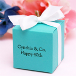 Personalized Colored Square Favor Box
