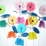 Daisy Lollipop Favors - 10 pcs