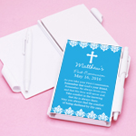 Damask First Communion Personalized Notebook