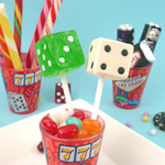 Dice Lollipops - 24 pcs