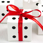 Dice Wedding Favor Boxes - 10 pcs