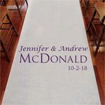 Distinct Names Personalized Wedding Aisle Runner