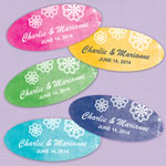 Doily Oval Shaped Personalized Labels - 20 pcs