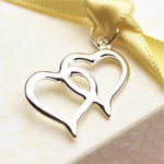 Double Hearts Charms - 20 pcs